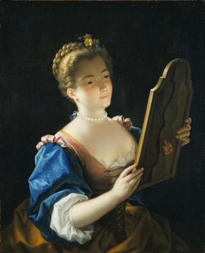 Jean Raoux, Une dame devant son miroir, ca. 1720, huile sur toile, 79 x 64 cm, Londres, Wallace Collection.