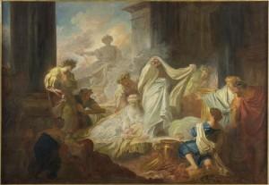 Jean-Honoré Fragonard, Le sacrifice de Callirhoé, 1765, huile sur toile, 129 x 188,5 cm, Angers, musée des Beaux-arts.
