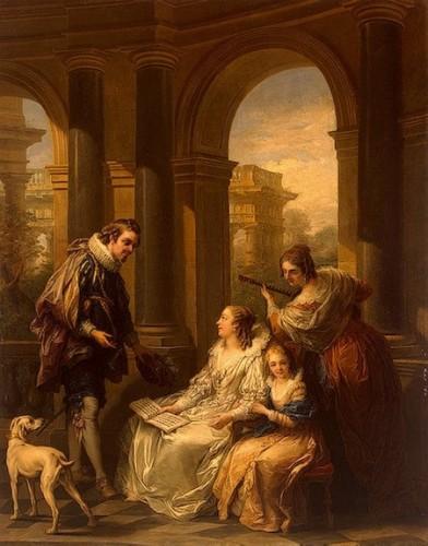 Carle Van Loo, La Conversation espagnole, 1755, huile sur toile, 164 x 129 cm, Saint-Pétersbourg, musée de l'Ermitage.