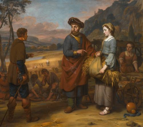 Gebrand van den Eeckhout, Ruth et Booz, 1672, huile sur toile, 148 x 167,5 cm.