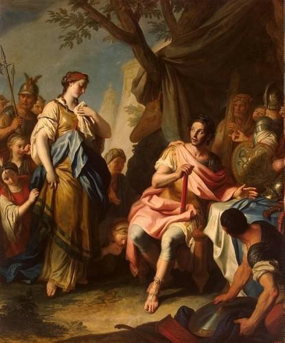 Pietro Antonio Rotari, Alexandre le Grand et Roxanne, 1756, huile sur toile, 243 x 202 cm, Saint-Pétersbourg, musée de l'Ermitage.