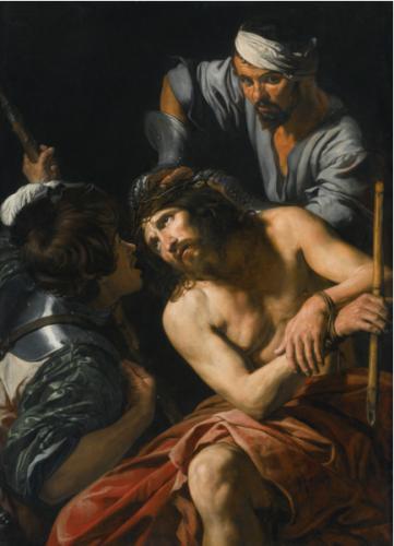 Valentin de Boulogne, Le couronnement d'épines, vers 1615, huile sur toile, 146,4 x 106,5 cm.