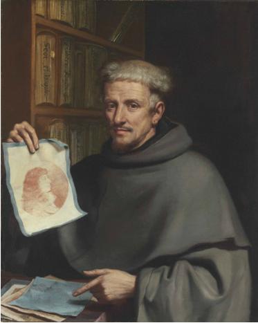 Giovanni Francesco Barbieri, dit Le Guercin, Portrait de Fra Bonaventura Bisi, vers 1658, huile sur toile, 94.4 x 76.4 cm.