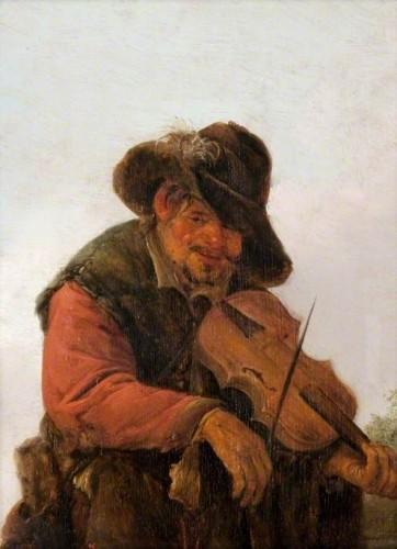 Adriaen van Ostade, Le Musicien ambulant, vers 1640-1660, huile sur panneau, 27.3 x 21.9 cm, Kelvingrove Art Gallery and Museum. (c) Glasgow Museums