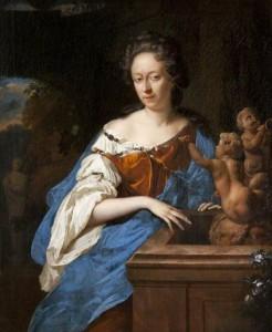 Adriaen van der Werff, Portrait d'une femme près d'une fontaine, vers 1693-1697, huile sur toile, 47.9 x 39 cm, Kelvingrove Art Gallery and Museum.