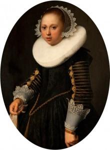 Nicolaes Eliasz Pickenoy, Portrait d'une jeune fille âgée de 15 ans, 1633, huile sur panneau, 69.8 x 53.3 cm, Kelvingrove Art Gallery and Museum. (c) Glasgow Museums