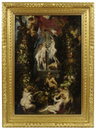 Peter Paul Rubens et Jan Bruegel l'Ancien, La Nature ornée, vers 1615, huile sur toile, 1067 x 724 mm, Kelvingrove Art Gallery and Museum.