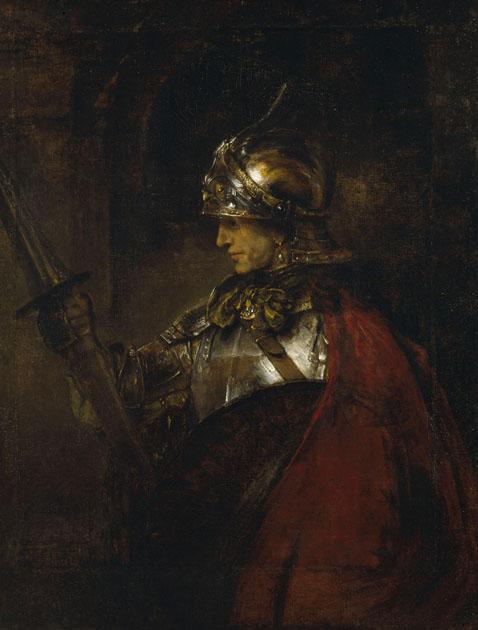 Rembrandt Harmenszoon van Rijn, Homme en armure, vers 1655, huile sur toile, 1375 x 1044 mm, Kelvingrove Art Gallery and Museum.