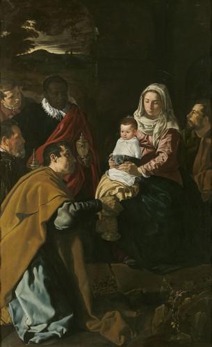 Diego Velasquez, Adoration des Mages, 1619, huile sur toile, Madrid, musée du Prado.