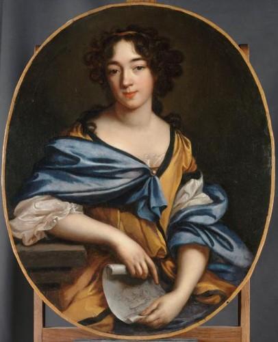 Elisabeth-Sophie Chéron, Autoportrait de l'artiste, XVIIe-XVIIIe siècle, huile sur toile, 88 x 73 cm, Paris, musée du Louvre.