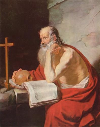 Jacques Blanchard, Saint Jérôme, 1632, huile sur toile, 145,5 x 116 cm, Budapest, musée des Beaux-Arts.