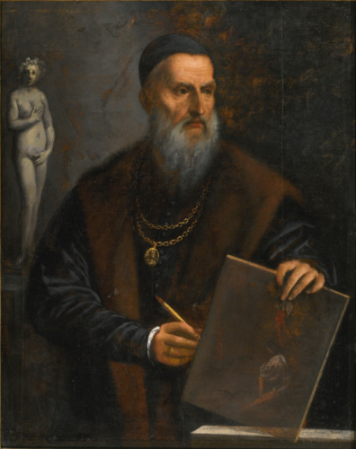 Pietro della Vecchia, Portrait de Titien, huile sur toile, 114,9 x 92 cm.