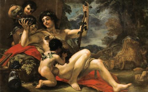 Volterrano, Bacchus entouré de putti, vers 1677 – 1682, huile sur toile, 144 x 231 cm.