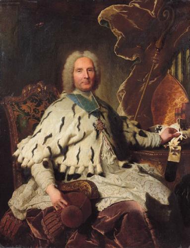 Hyacinthe Rigaud, Portrait de Henri-Oswald de la Tour d'Auvergne, 1735, huile sur toile, 146 x 112 cm.