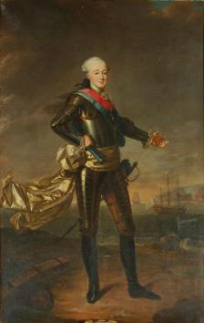 Jean-Baptiste Charpentier, Portrait de Louis-Jean-Marie de Bourbon, duc de Penthièvre, huile sur toile 227 x 137 cm.