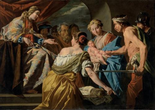 Matthias Stomer, Le Jugement de Salomon, huile sur toile, 157 x 222 cm.