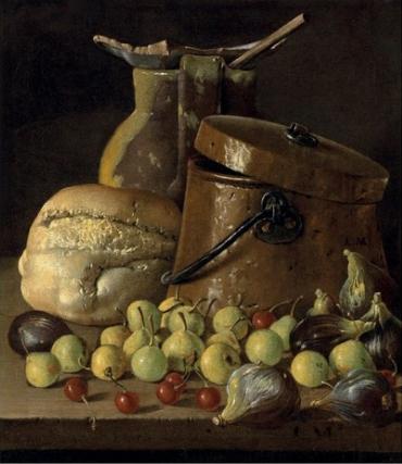 Luis Meléndez, Nature morte au pichet, huile sur toile, 40.3 x 35.3 cm.
