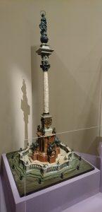 Johann Lukas von Hildebrandt (esquisse), Matthias Rueff (façonnage), Benedikt Stöber (figurines en cire), Maquette d'une colonne mariale pour la place de la cathédrale de Salzbourg, 1710-1711, bois polychromé et doré, figurines en cire, initialement bronzées, aujourd'hui huilées, Salzburg Museum