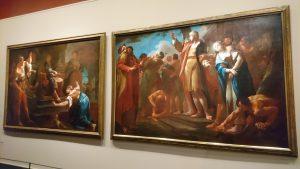 Illustration 3: Paul Troger, Le jugement de Salomon (gauche), Daniel défendant Suzanne (droite), 1749, huile sur toile, 182 x 265 cm, Salzburg Museum (c) Salzburg Museum / Rupert Poschacher