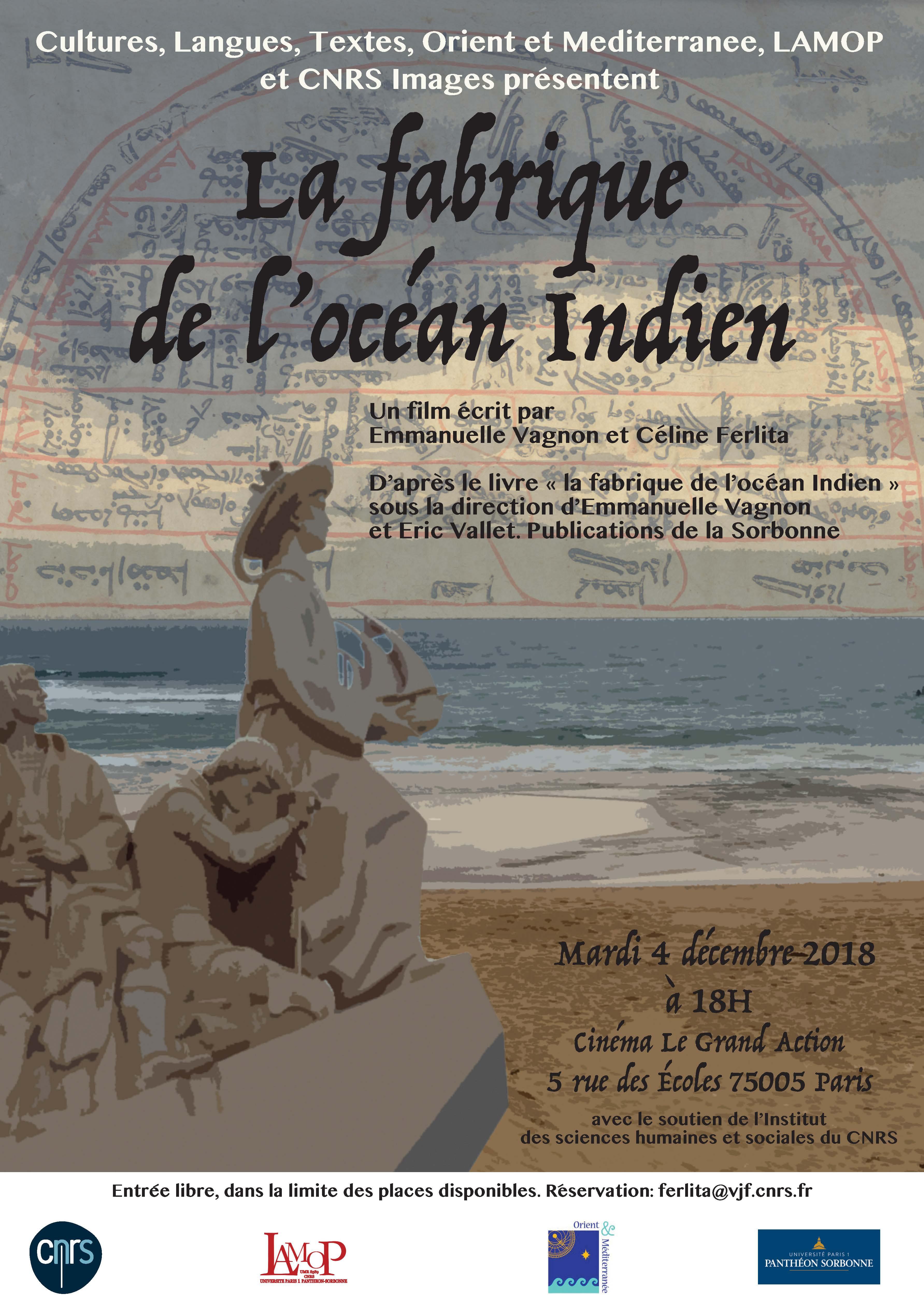 La fabrique de l'océan Indien : le film. Projection le 4 décembre