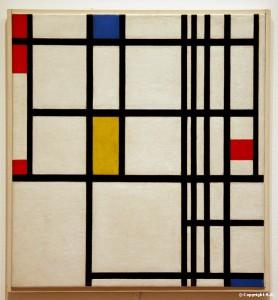 Composition en Rouge bleu jaune Mondrian