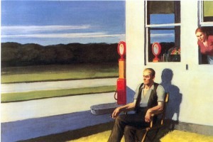 Four Lane Road, 1956, Hopper