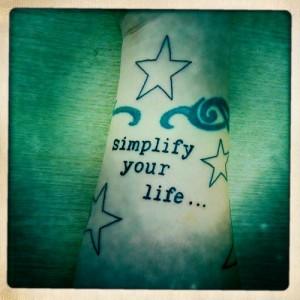 2. simplify your life