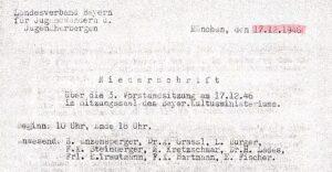 Vorstand des DJH-Landesverbands Bayern, Dezember 1946