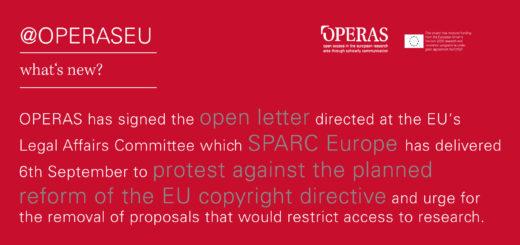 OPERAS signed SPARC open letter