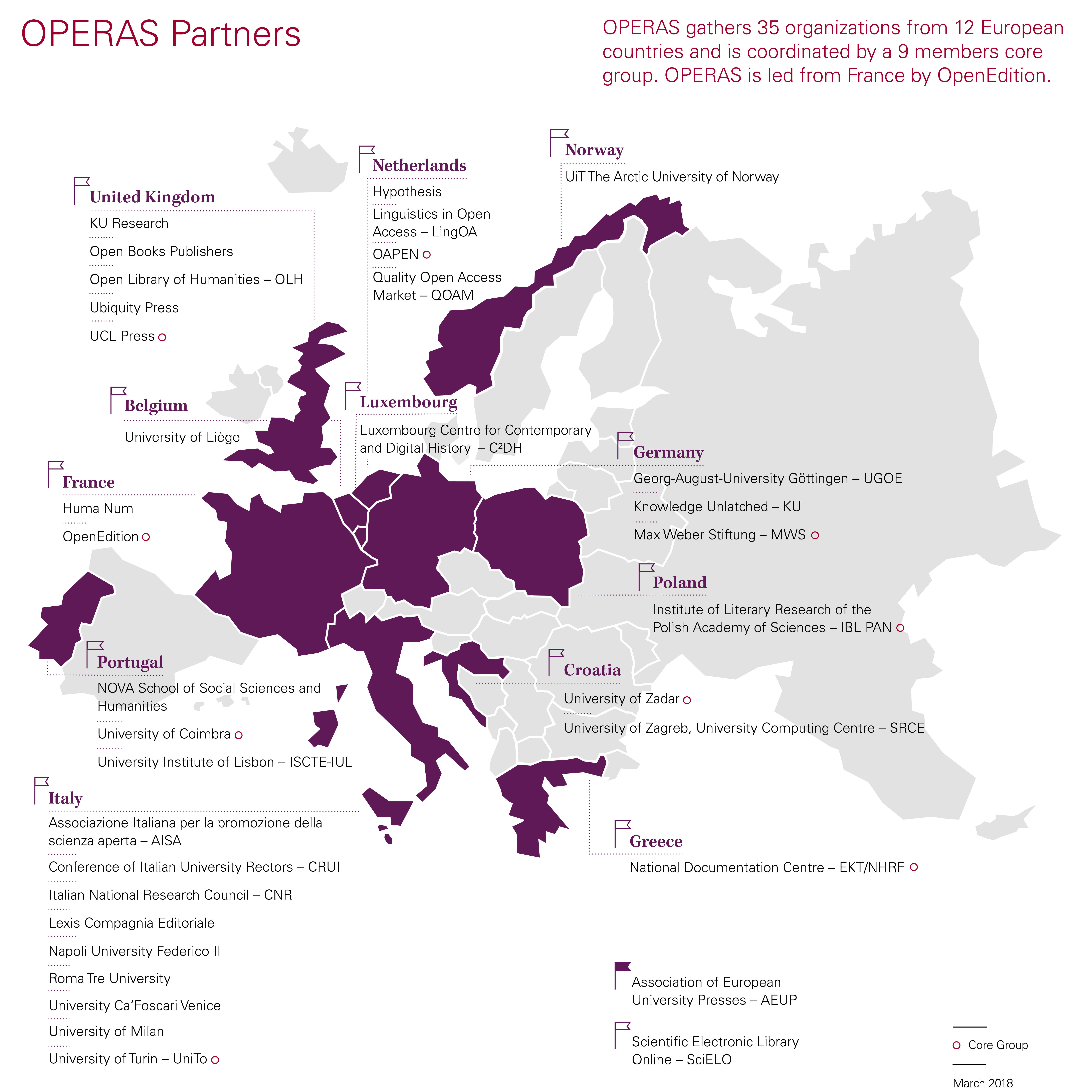 OPERAS Map - March 2018