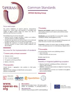 OPERAS Standards Working Group poster