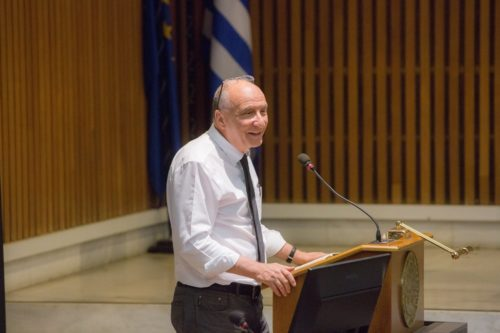 John Willinsky at the first OPERAS Conference (2017) in Athens (photo credit: EKT)