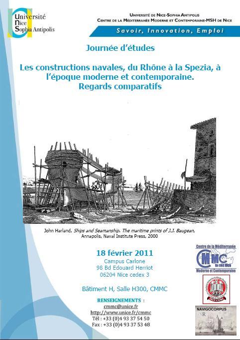 Journée d'études Navigocorpus «Constructions navales», 18 février 2011