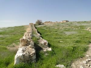 Tel Arad - frühbronzezeitliche Mauer (Foto: Thomas Hieke)