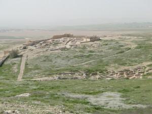 Blick auf die frühbronzezeitliche Siedlung von Tel Arad (Foto: Thomas Hieke)