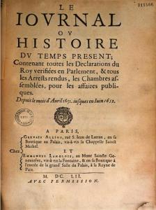 Publié à Paris, chez Gervais Alliot & Emmanuel Langlois, 1652