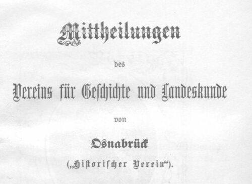 Osnabrücker Mitteilungen online