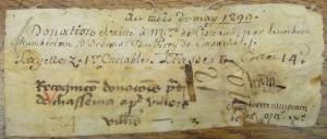 Arch. dép. Côte-d'Or, 11 H 549. 1209, mai.