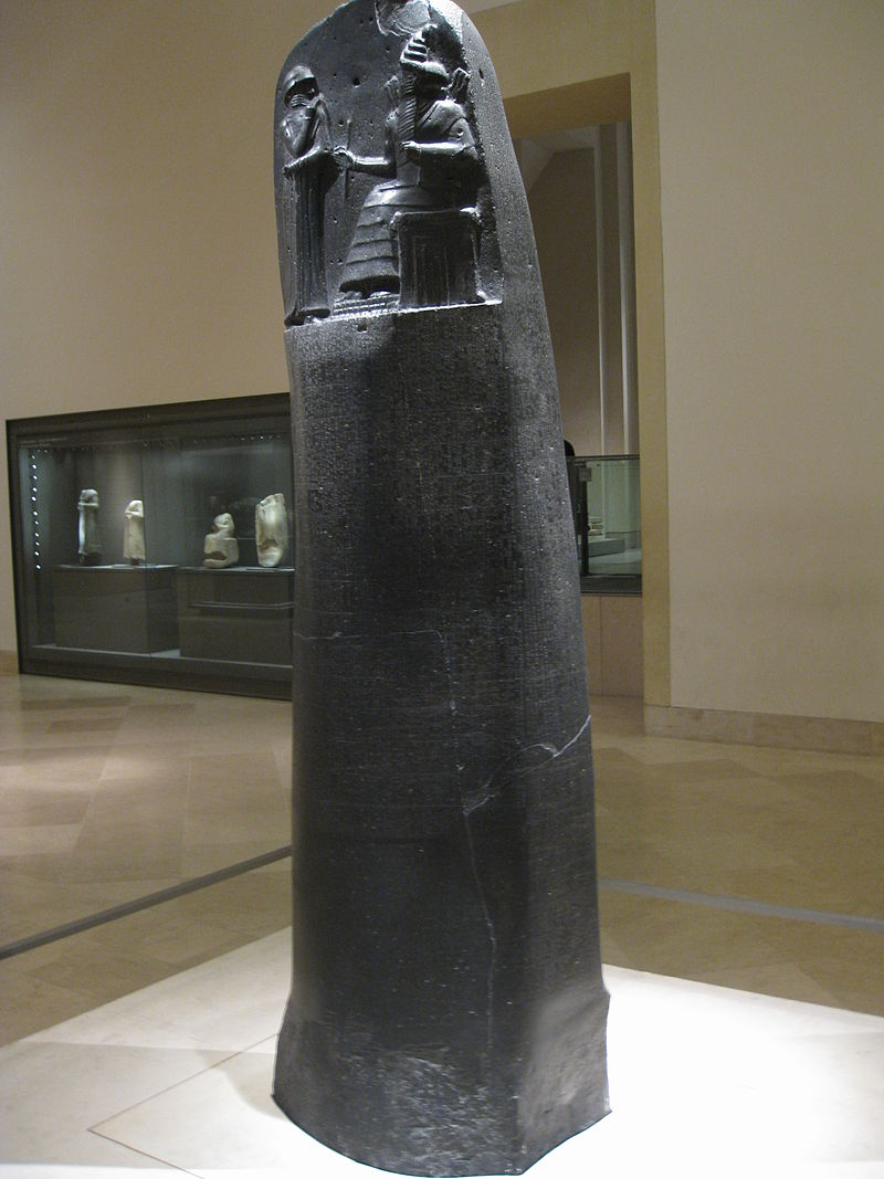 Stèle du Code de Hammurabi au musée du Louvre (Deror avi)