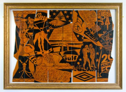 Oedipus Rex. Acrylic on cardboard, wood (2008-2009).