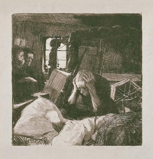 Kaethe Kollwitz: Not (1897)