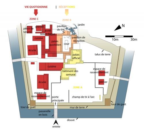 Plan du palais Asakura