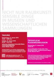 Raubkunst Tagung Mainz
