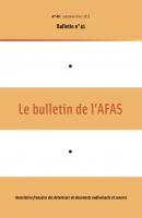 Couverture du Bulletin de l'Afas