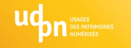 logo du programme udpn : Usages des Patrimoines Numérisés