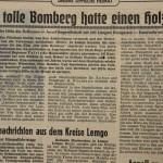 """Lippische Landeszeitung, 1. Juni 1957 (Dreharbeiten in Lemgo zum Film """"Der tolle Bomberg"""")"""