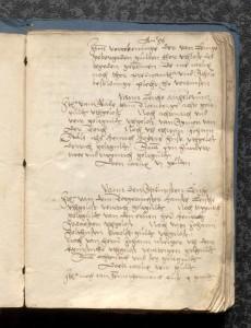 Seite aus dem Protokollbuch des H. Wippermann (1555), StaL A 302