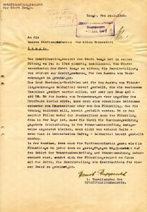 Antrag des Ostflüchtlingsbeirates, Lemgo, 1949 (Sta L B 4588)