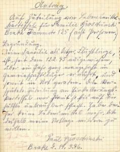 Antrag auf Zuteilung von Kartoffeln (Sta L H 1 Brake Nr. 270)