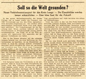 """""""Soll so die Welt gesunden? """" (Freie Presse,  06.11.1946)"""